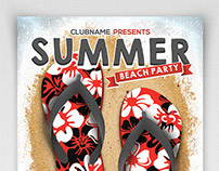 Summer Beach Party Flyer Template II