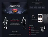Sports Guru -March Madness Campaign - Website