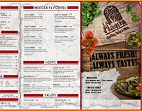 "Menu design for ""La Playita"" Mexican Restaurant"