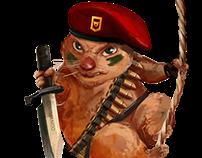 Commando Hamster