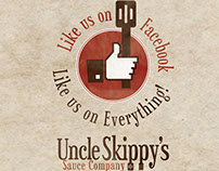Uncle Skip Logo and Bottle Label