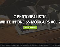 7 White iPhone 5S Mock-Ups Vol.2
