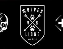 WolvesVsLions Branding and Merch Design