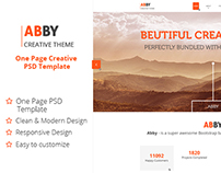 ABBY Onepage Creative PSD Template