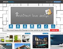 Architect social Website UI  design