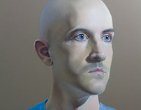 Pastel self-portrait