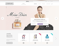 Webdesign for a beauty shop