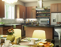 Modern Kitchen Visualization 001