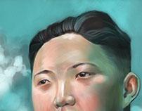 Kim-Jong-un portrait