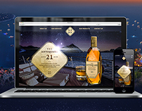 Website UI design Alcohol Luxury