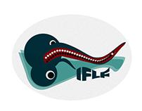 Alien fishing cute illustration for fishing blog IFLF