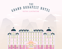 The Grand Budapest Hotel Vector Illustration