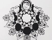 """Moon Mandala""- 2014"
