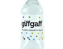 giffgaff drinks branding: water bottle