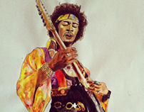 Jimi Hendrix Watercolour