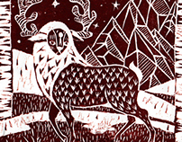Lino cut prints 2013