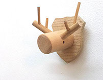 Woodeers- handmade wooden deer hangers