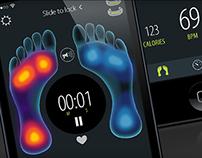 Sensoria Fitness mobile app
