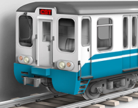 Concept Illustration of Subway train