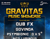Gravitas Music Showcase Flier