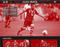 Juan Mata Website Redesign