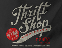 Thrift Shop: Vintage T-Shirt Texture Template