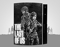 The Last of Us Remastered art painted on a PS3