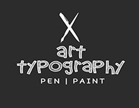 Typography for Arts in Flat Colors