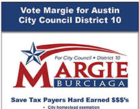 Vote Margie - Campaign Advertisement for Print