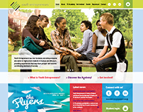 Youth Entrepreneur webpage design