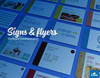 On Board Signs & Flyers · Costa Crociere