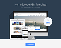 HomeEurope PSD Template Free Download
