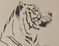 Tiger pointillism