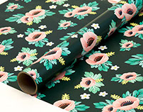 Anemone Flower Wrapping Paper