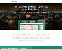 conference planning checklist excel template on behance