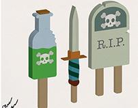 Bad Things Illustrations