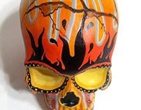 Orange Blaze Skull