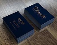 Metallic Gold Letterpress Business Card