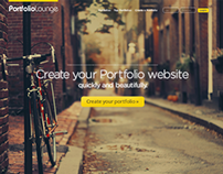 Portfolio Lounge - Home Page Redesign