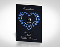 Sapphire Wedding Anniversary Card