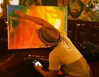 a few pictures from two live painting events 7/2014