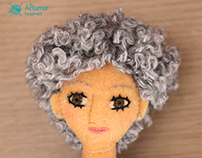 Lola, my grandmother custom doll