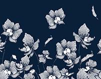 In a Blue Dress