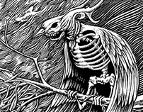 The Living Dead Bird (Ink Drawing)