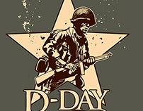 D-Day reenacting t-shirt
