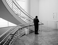 Man and Stairs