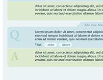 QandA UI Design for EngagementHQ