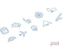Airport icon set \ Free .psd