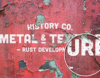 8 Rust Metal Overlay Textures Mockup