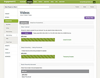 Add, Edit Video Interface for EngagementHQ